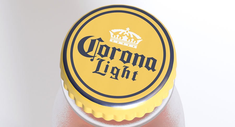 Lekkie piwo Corona royalty-free 3d model - Preview no. 5