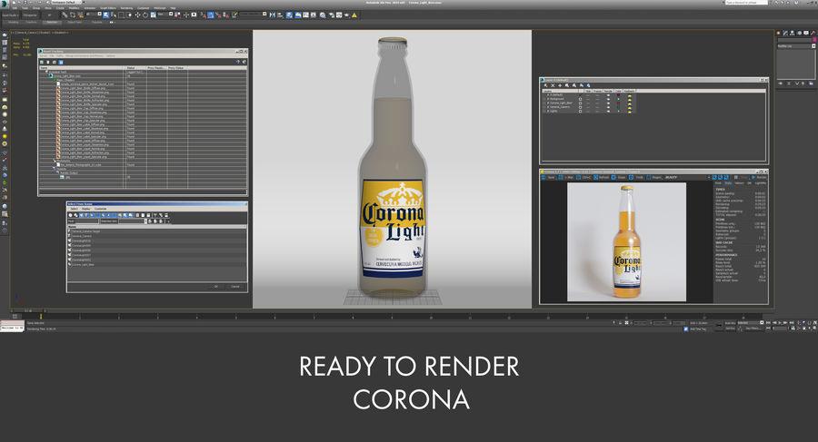Lekkie piwo Corona royalty-free 3d model - Preview no. 16