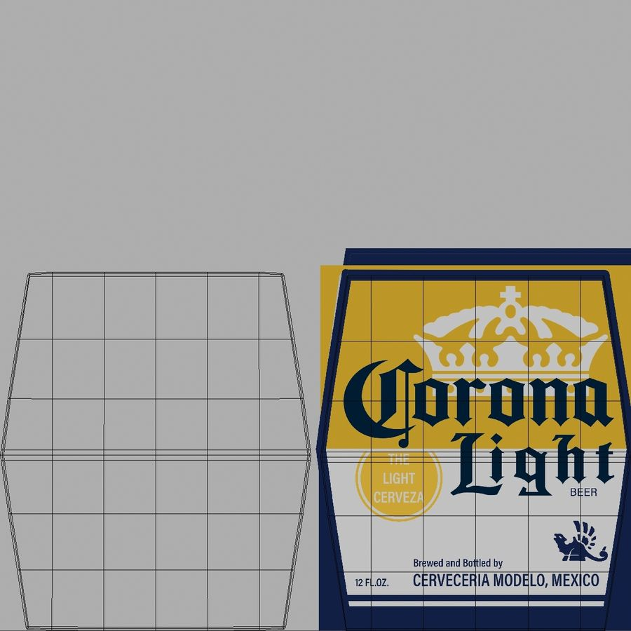 Lekkie piwo Corona royalty-free 3d model - Preview no. 20