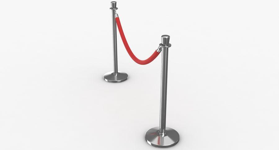 支柱とロープ royalty-free 3d model - Preview no. 20
