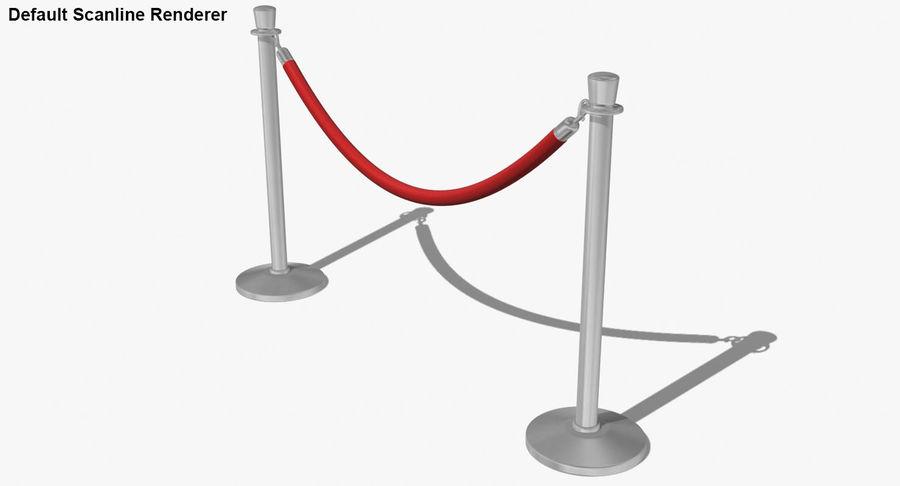 支柱とロープ royalty-free 3d model - Preview no. 46