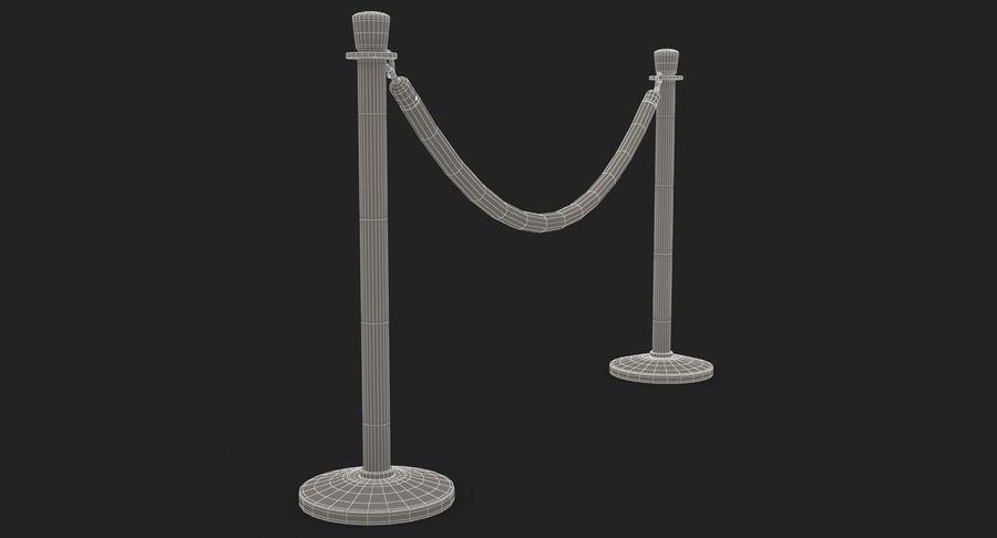 支柱とロープ royalty-free 3d model - Preview no. 30