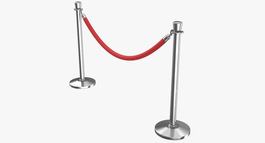 支柱とロープ royalty-free 3d model - Preview no. 2