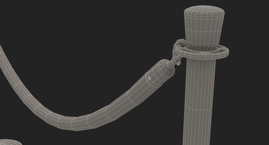 支柱とロープ royalty-free 3d model - Preview no. 32