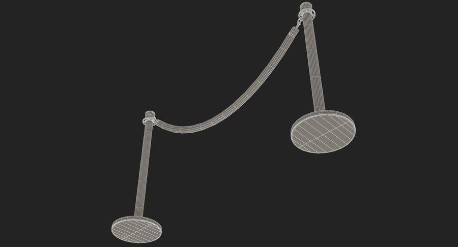支柱とロープ royalty-free 3d model - Preview no. 28