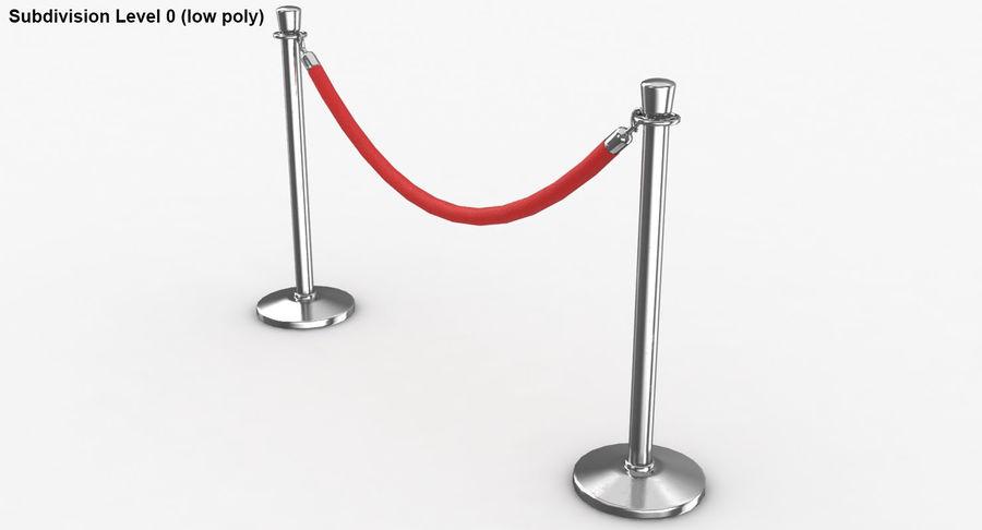 支柱とロープ royalty-free 3d model - Preview no. 40