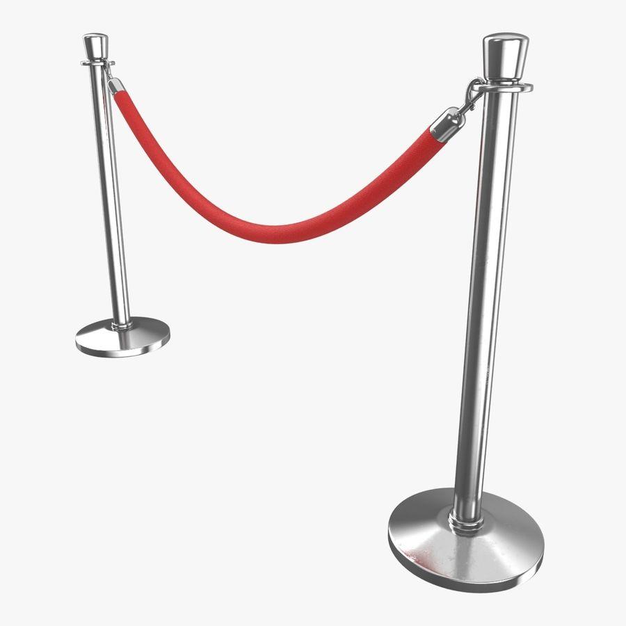 支柱とロープ royalty-free 3d model - Preview no. 1