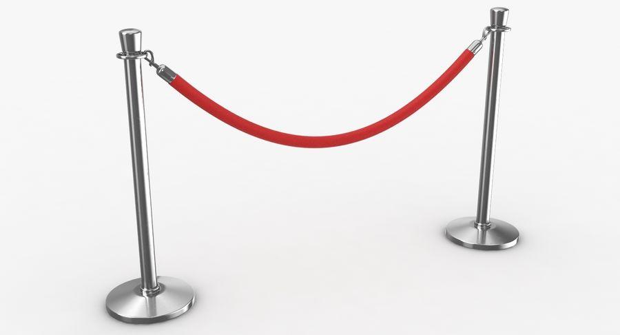 支柱とロープ royalty-free 3d model - Preview no. 6