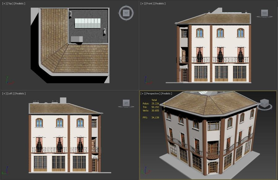 Şehir Yapısı royalty-free 3d model - Preview no. 14