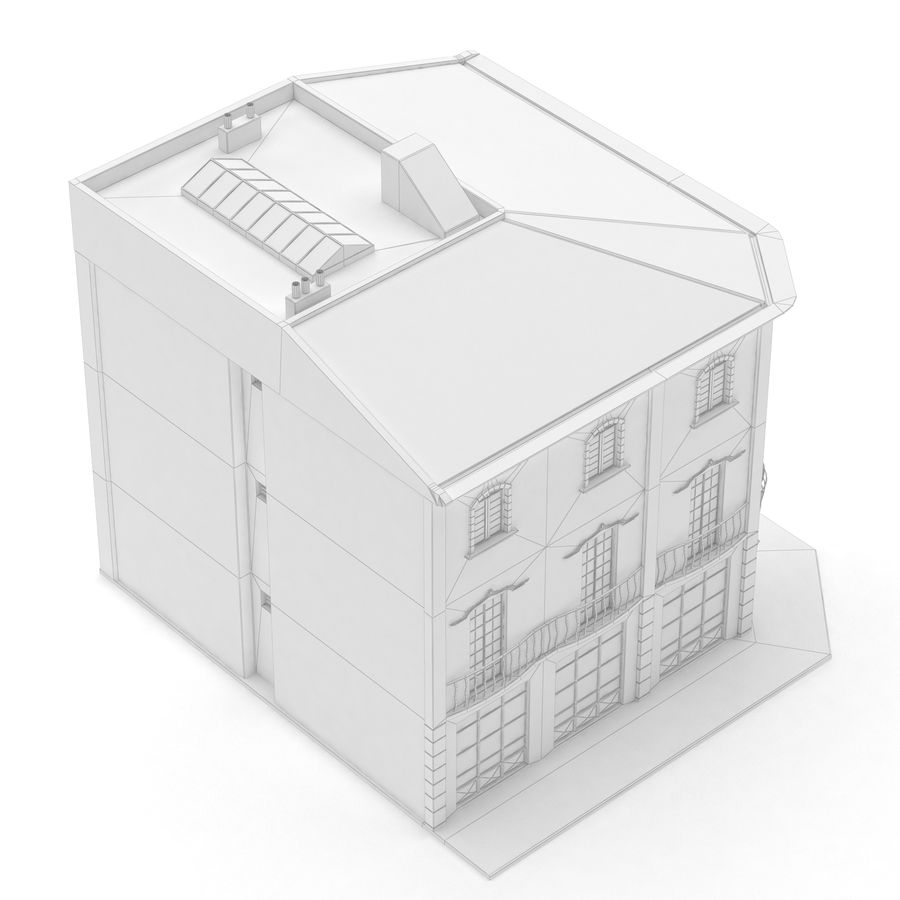 Şehir Yapısı royalty-free 3d model - Preview no. 12
