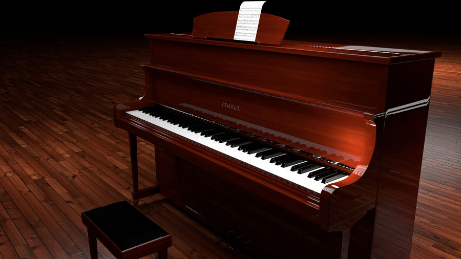 Piano royalty-free 3d model - Preview no. 13