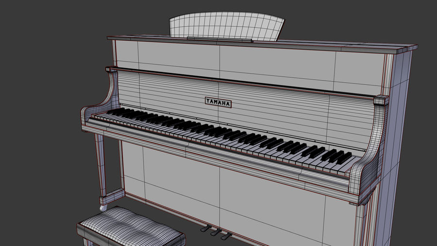 Piano royalty-free 3d model - Preview no. 9