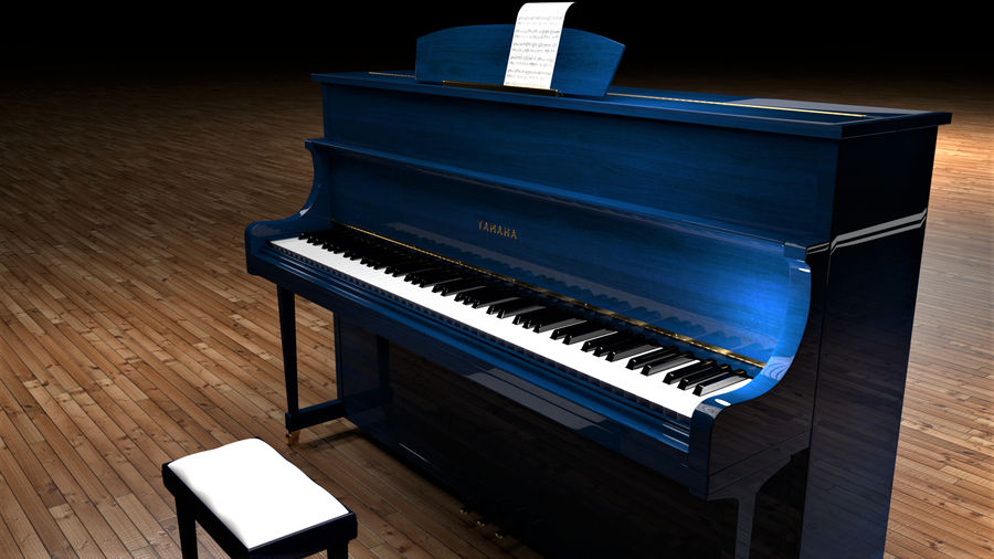 Piano royalty-free 3d model - Preview no. 12