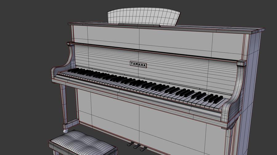 ピアノ royalty-free 3d model - Preview no. 9