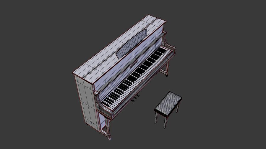 ピアノ royalty-free 3d model - Preview no. 7