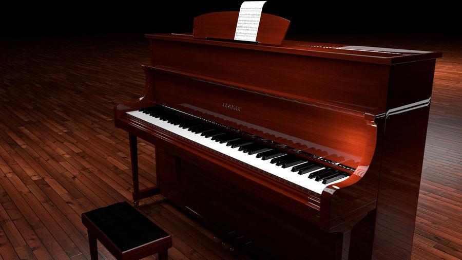 ピアノ royalty-free 3d model - Preview no. 13