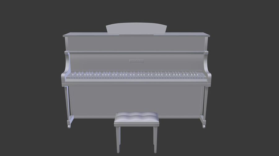 ピアノ royalty-free 3d model - Preview no. 5