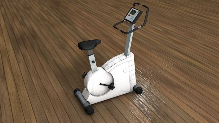 Esercizio interno palestra bicicletta royalty-free 3d model - Preview no. 1