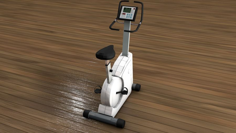 Esercizio interno palestra bicicletta royalty-free 3d model - Preview no. 2