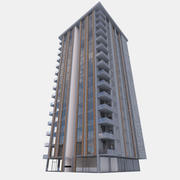 building 01 (with interior) 3d model