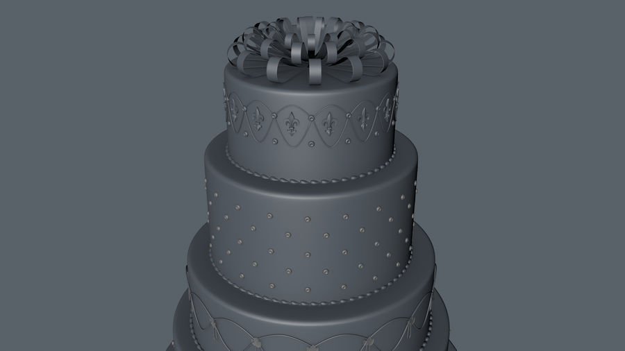Party Cake royalty-free 3d model - Preview no. 3