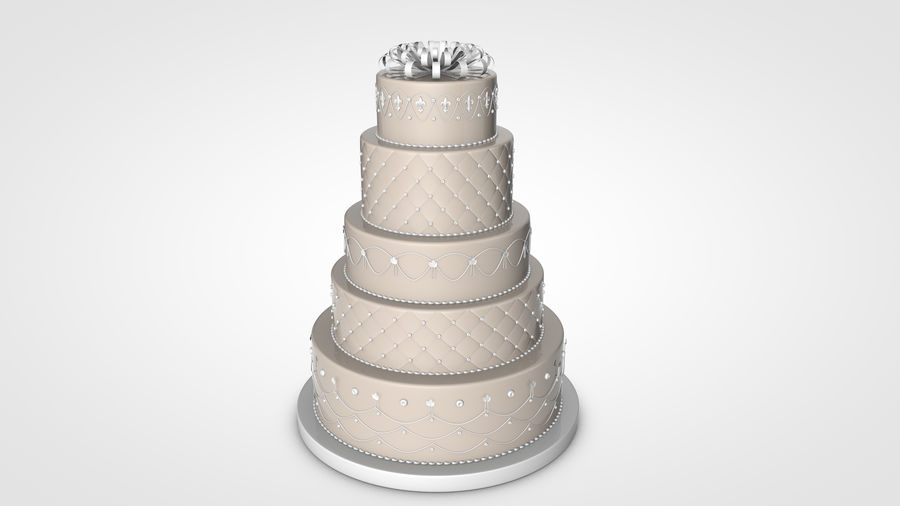 Party Cake royalty-free 3d model - Preview no. 9