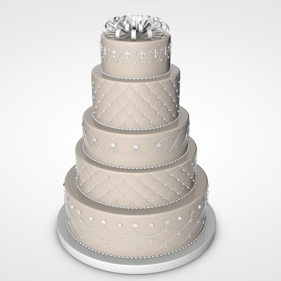 Party Cake royalty-free 3d model - Preview no. 1