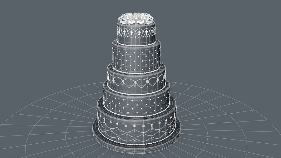 Party Cake royalty-free 3d model - Preview no. 11