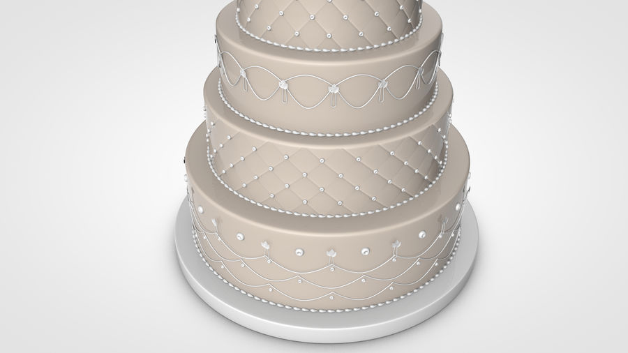 Party Cake royalty-free 3d model - Preview no. 5
