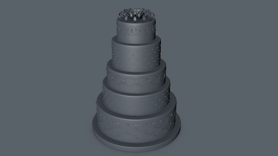 Party Cake royalty-free 3d model - Preview no. 10