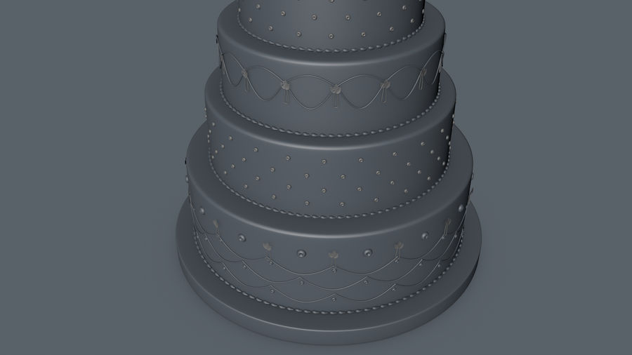 Party Cake royalty-free 3d model - Preview no. 6