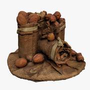 Sack of nuts 3d model