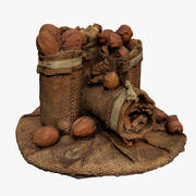 Sack of nuts 3d model