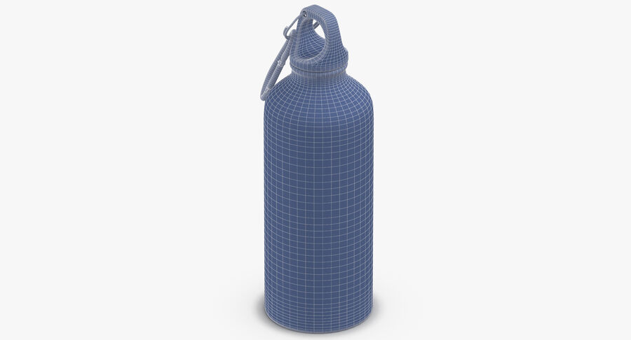 Aluminium Bottle Size 01 royalty-free 3d model - Preview no. 11