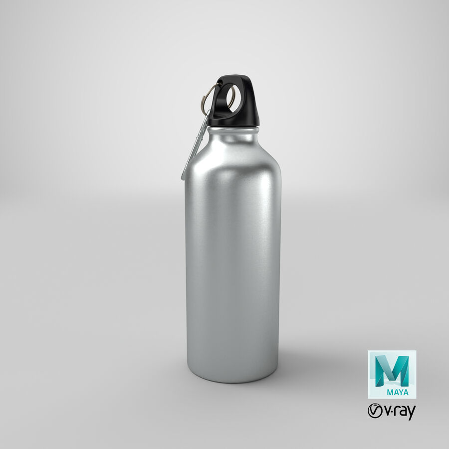 Aluminium Bottle Size 01 royalty-free 3d model - Preview no. 20