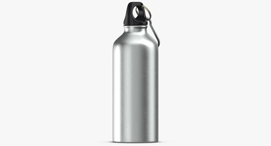 Aluminium Bottle Size 01 royalty-free 3d model - Preview no. 8
