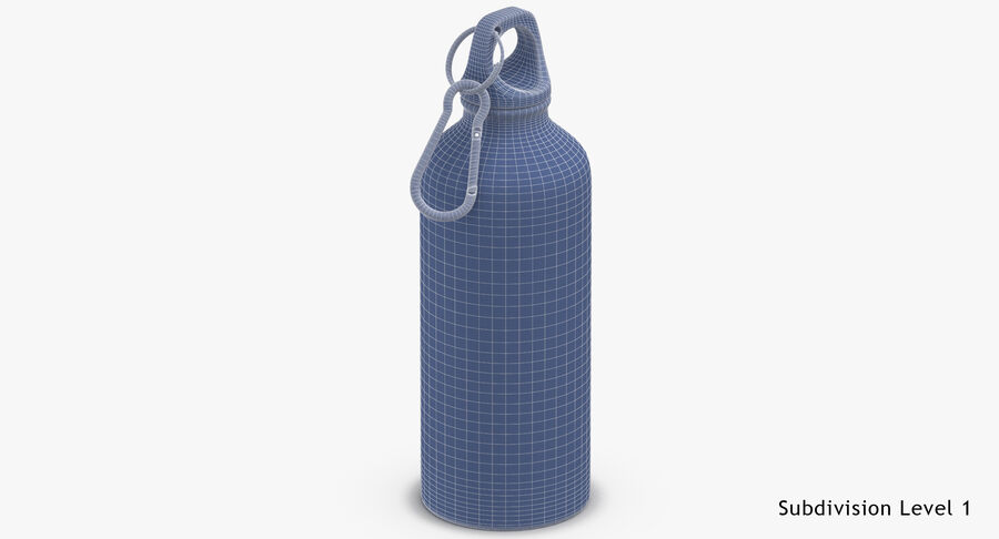 Aluminium Bottle Size 01 royalty-free 3d model - Preview no. 18
