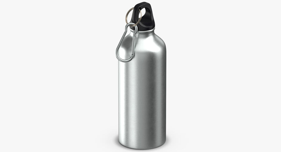 Aluminium Bottle Size 01 royalty-free 3d model - Preview no. 5