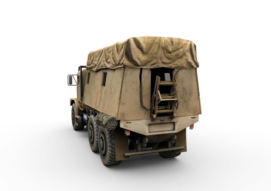 Military vehicle car royalty-free 3d model - Preview no. 4
