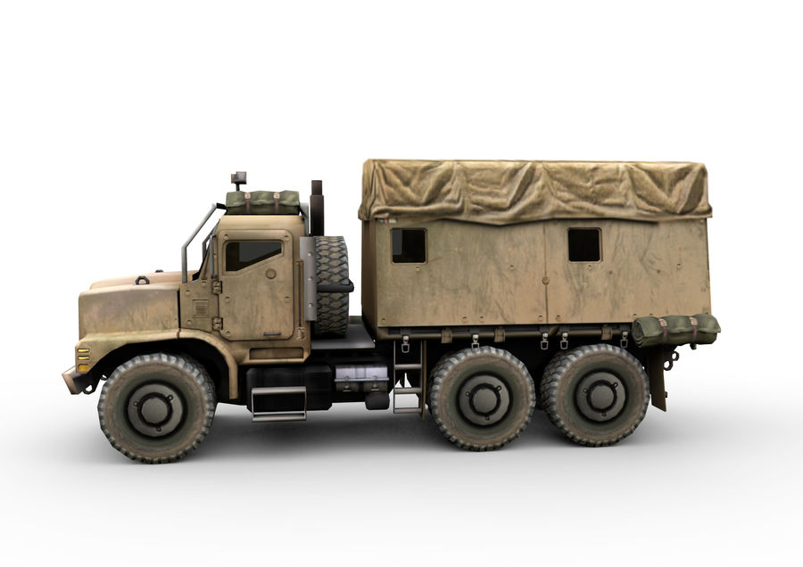 Military vehicle car royalty-free 3d model - Preview no. 2