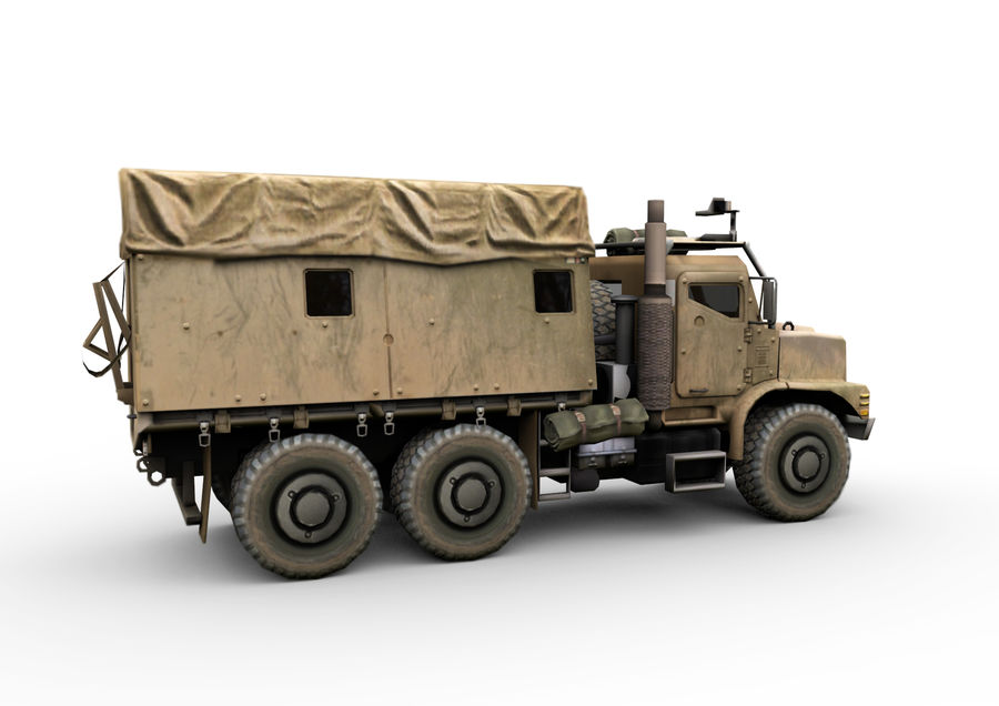 Military vehicle car royalty-free 3d model - Preview no. 6
