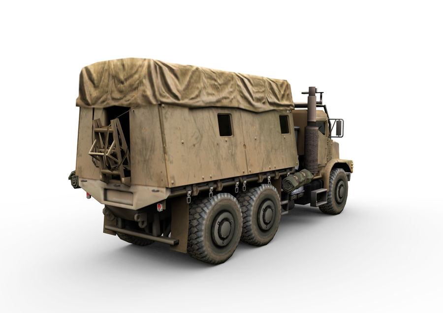 Military vehicle car royalty-free 3d model - Preview no. 5
