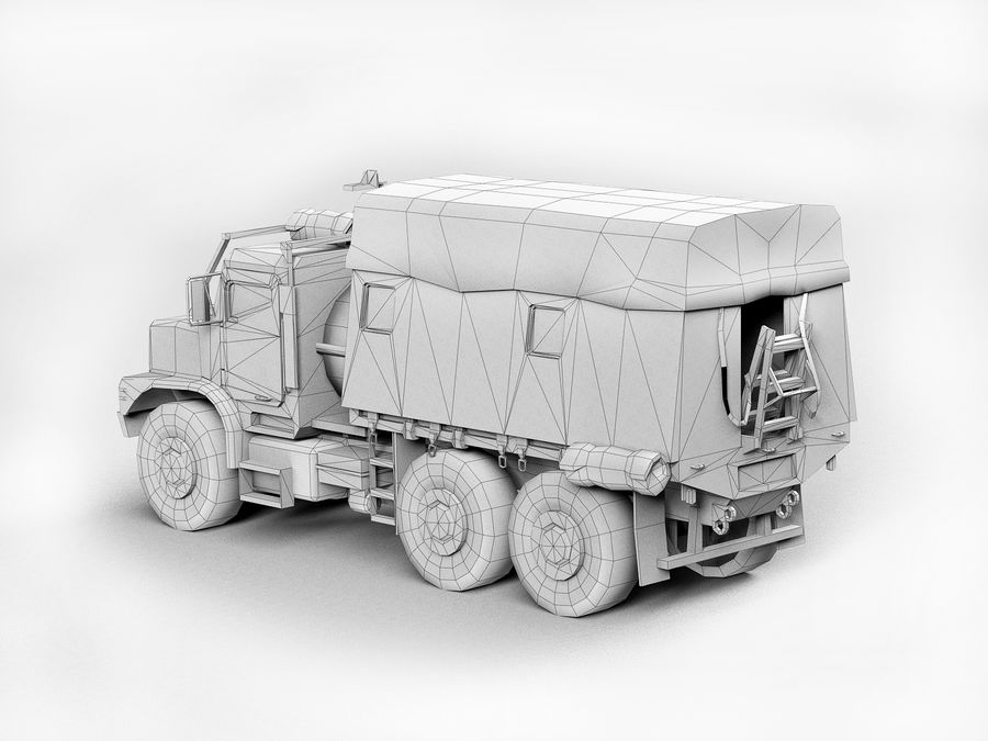 Military vehicle car royalty-free 3d model - Preview no. 9