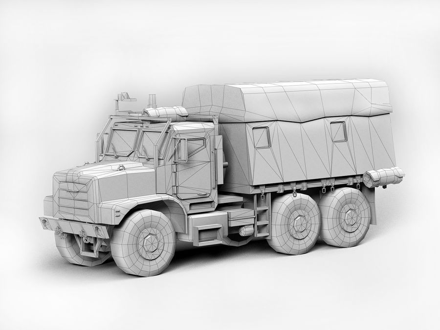 Military vehicle car royalty-free 3d model - Preview no. 8