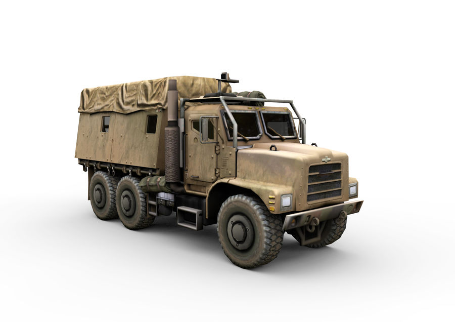 Military vehicle car royalty-free 3d model - Preview no. 7