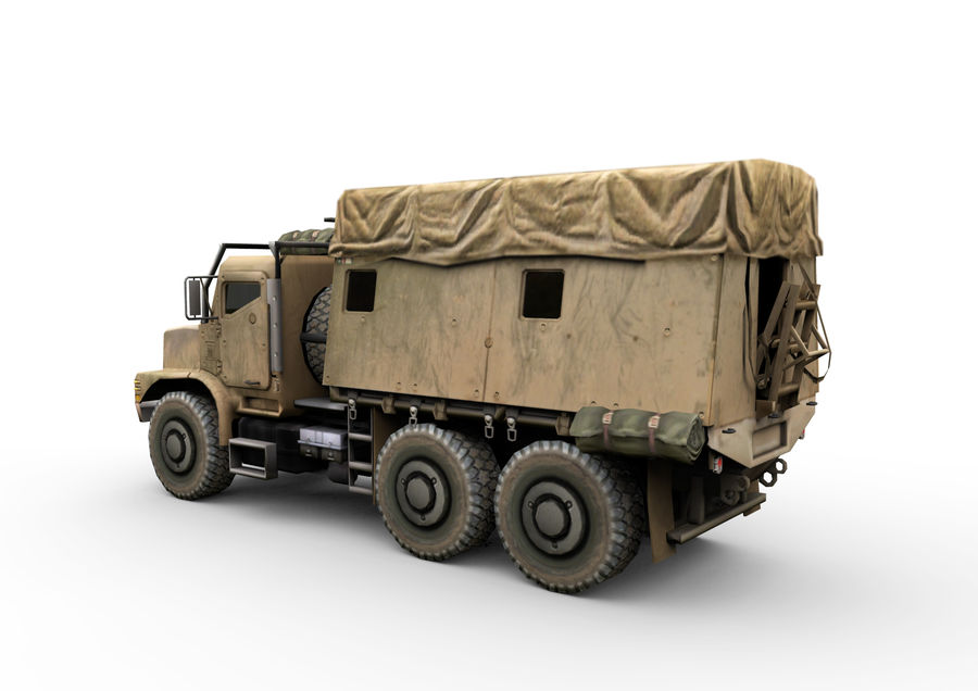Military vehicle car royalty-free 3d model - Preview no. 3