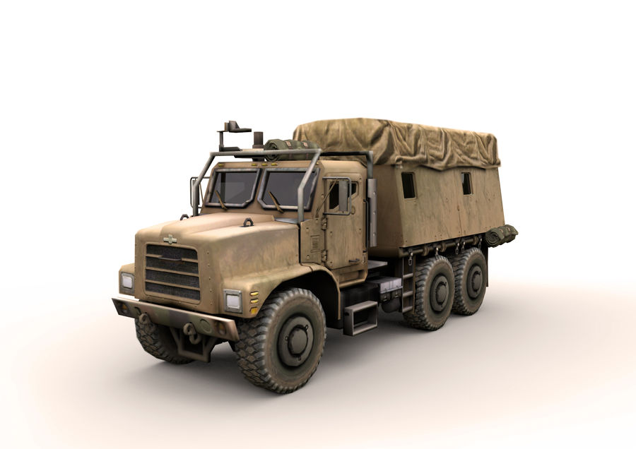 Military vehicle car royalty-free 3d model - Preview no. 1