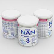 Baby Milk Can NAN Optipro Plus 3 800g 3d model