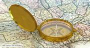 Vintage Brass Compass 3d model