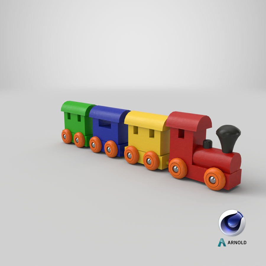 玩具火车 royalty-free 3d model - Preview no. 21
